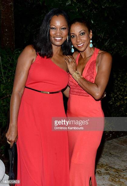 Garcelle Beauvais and Holly Robinson Peete attend the Gala Dinner and Awards during Day Three of the Sandals Emerald Bay Celebrity Getaway and Golf...