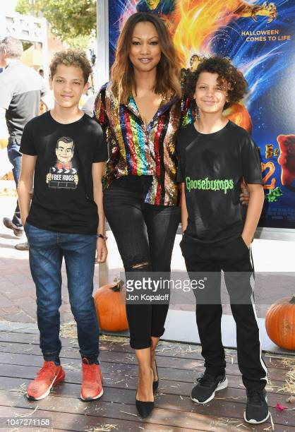 Garcelle Beauvais and kids attend Columbia Pictures And Sony Pictures Animation's 'Goosebumps 2 Haunted Halloween' Special Screening at Sony Pictures...