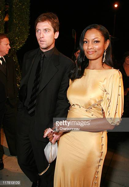 Garcelle Beauvais and Mike Nilon during 2006 Vanity Fair Oscar Party Hosted by Graydon Carter at Morton's in Beverly Hills California United States