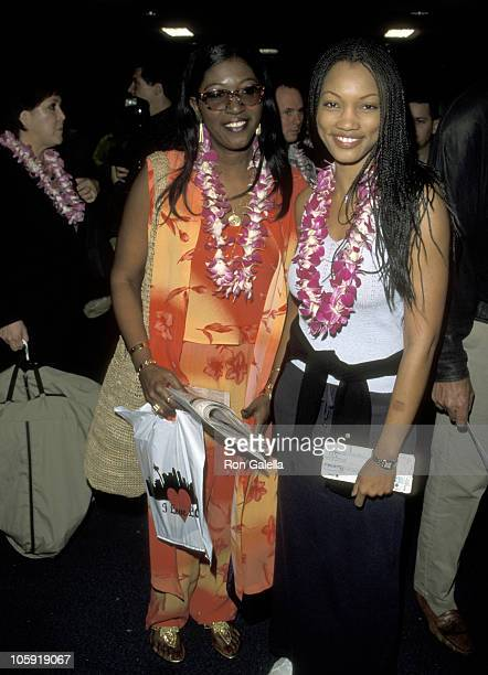 Garcelle Beauvais and Sister during Hawaiian Airlines Launch Ceremony for Direct Service From Los Angeles to Maui at Los Angeles International...
