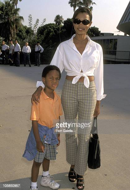 Garcelle Beauvais and Son Oliver Saunders during Ringling Bros Circus at Sports Arena in Los Angeles California United States