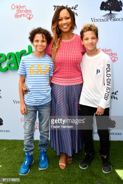 Garcelle Beauvais and sons Jaid and Jax attend the 10th Annual Empathy Rocks Fundraiser at Private Residence on June 10 2018 in Bel Air California