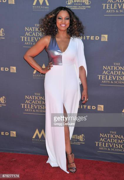 Garcelle Beauvais arrives at the 44th Annual Daytime Emmy Awards at Pasadena Civic Auditorium on April 30 2017 in Pasadena California