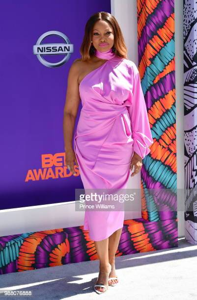 Garcelle Beauvais arrives to the 2018 BET Awards held at Microsoft Theater on June 24 2018 in Los Angeles California