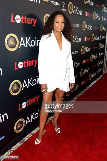 Garcelle Beauvais attends a private launch for Akon's Cryptocurrency AKoin on August 7 2018 in West Hollywood California