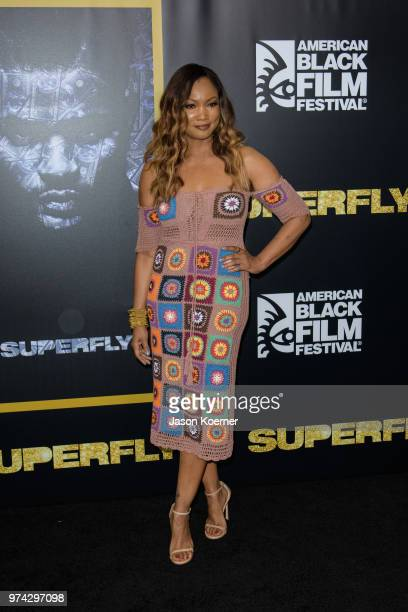 Garcelle Beauvais attends Opening Night Screening 'Superfly' at the FIllmore Miami Beach during the 22nd Annual American Black Film Festival on June...