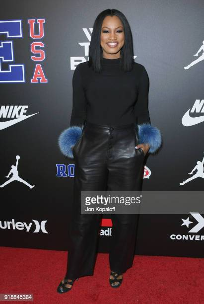 Garcelle Beauvais attends ROOKIE USA Fashion Show at Milk Studios on February 15 2018 in Hollywood California