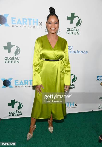 Garcelle Beauvais attends the 15th Annual Global Green PreOscar Gala on February 28 2018 in Los Angeles California