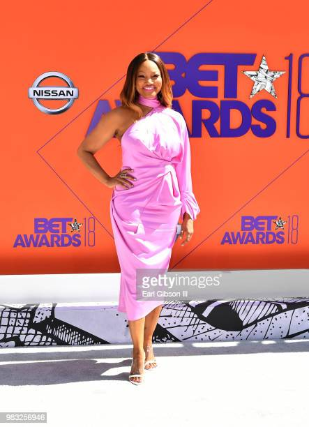 Garcelle Beauvais attends the 2018 BET Awards at Microsoft Theater on June 24 2018 in Los Angeles California