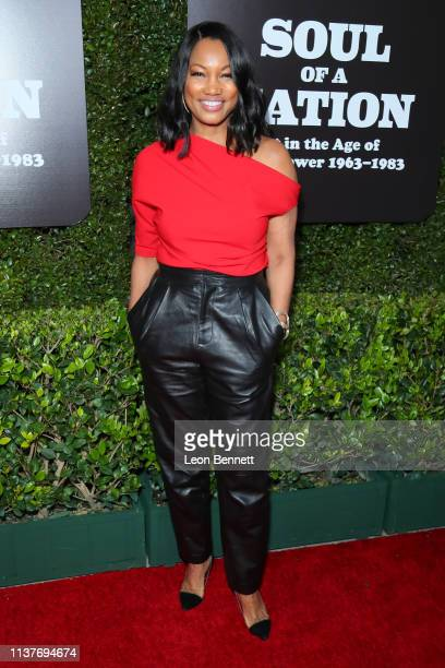 Garcelle Beauvais attends The Broad Hosts West Coast Debut Of Soul Of A Nation Art In the Age Of Black Power 19631983 at The Broad on March 22 2019...