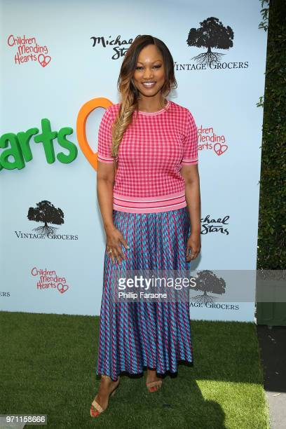 Garcelle Beauvais attends the Children Mending Hearts' 10th Annual Empathy Rocks Fundraiser at Private Residence on June 10 2018 in Bel Air California