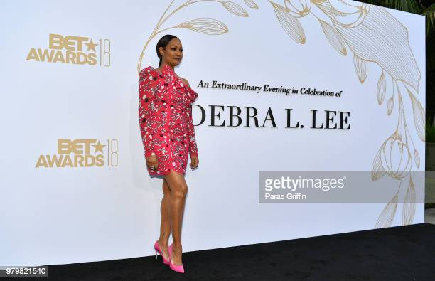 Garcelle Beauvais attends the Debra Lee PreBET Awards Dinner at Vibiana on June 20 2018 in Los Angeles California