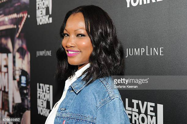 Garcelle Beauvais attends the Live From New York Los Angeles premiere at Landmark Theatre on June 10 2015 in Los Angeles California