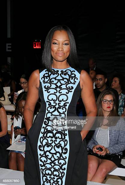 Garcelle Beauvais attends the Pamella Roland fashion show during MercedesBenz Fashion Week Spring 2015 at The Salon at Lincoln Center on September 9...