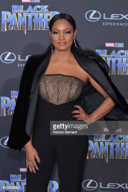 Garcelle Beauvais attends the premiere of Disney and Marvel's 'Black Panther' at Dolby Theatre on January 29 2018 in Hollywood California