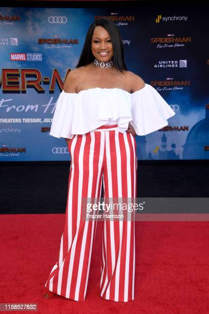 Garcelle Beauvais attends the premiere of Sony Pictures' SpiderMan Far From Home at TCL Chinese Theatre on June 26 2019 in Hollywood California