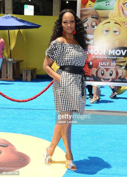 Garcelle Beauvais attends the premiere of 'The Emoji Movie' at Regency Village Theatre on July 23 2017 in Westwood California