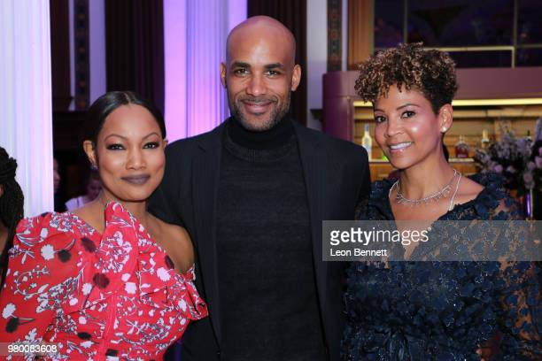 Garcelle Beauvais Boris Kodjoe and Tracy Mourning attends the 2018 BET Awards Debra Lee PreBET Awards Dinner at Vibiana on June 20 2018 in Los...