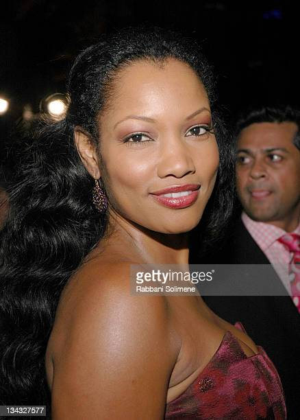 Garcelle Beauvais during Olympus Fashion Week Spring 2006 - Seen Around Tent - Day 3 at Bryant Park in New York City, New York, United States.