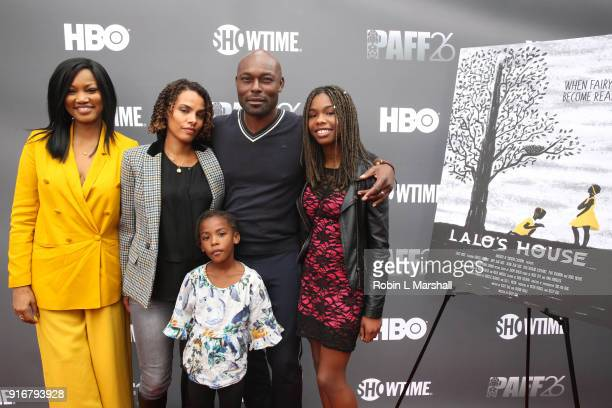 Garcelle Beauvais Jimmy JeanLouis and family attend 'Lalo's House' Red Carpet Screening at Cinemark Baldwin Hills Crenshaw Plaza 15 on February 10...