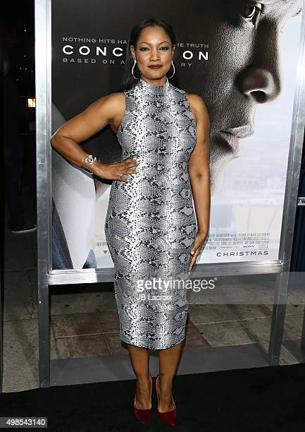 Garcelle Beauvais Nilon attends the screening of Columbia Pictures' 'Concussion' on November 23 2015 in Westwood California