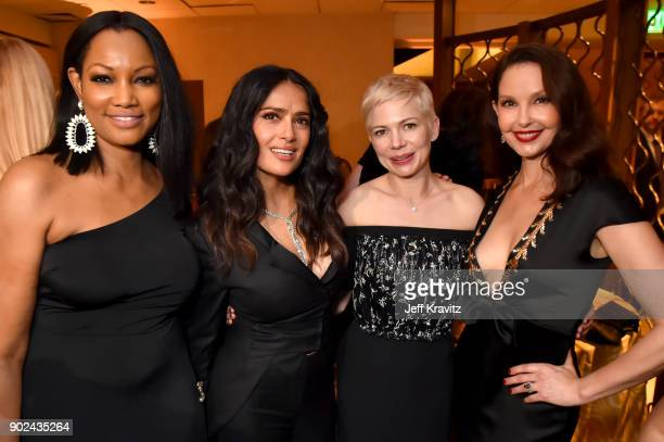 Garcelle Beauvais Salma Hayek Michelle Williams and Ashley Judd attend HBO's Official 2018 Golden Globe Awards After Party on January 7 2018 in Los...