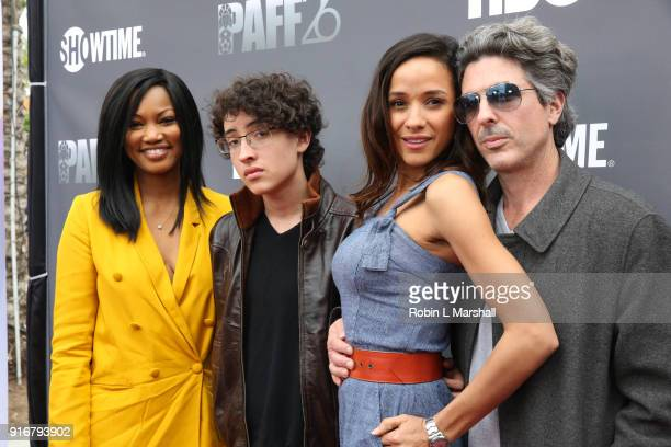 Garcelle Beauvais Toni Duclottni and guest attend 'Lalo's House' Red Carpet Screening at Cinemark Baldwin Hills Crenshaw Plaza 15 on February 10 2018...