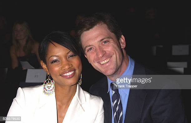 Garcelle BeauvaisNilon and husband arrive at the Richard Tyler Spring 2004 fashion show