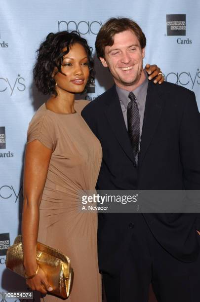 "Garcelle Beauvais-Nilon and husband Mike during Macy's and American Express ""Passport 2002"" 20th Anniversary Gala - Arrivals at Barker Hangar in..."