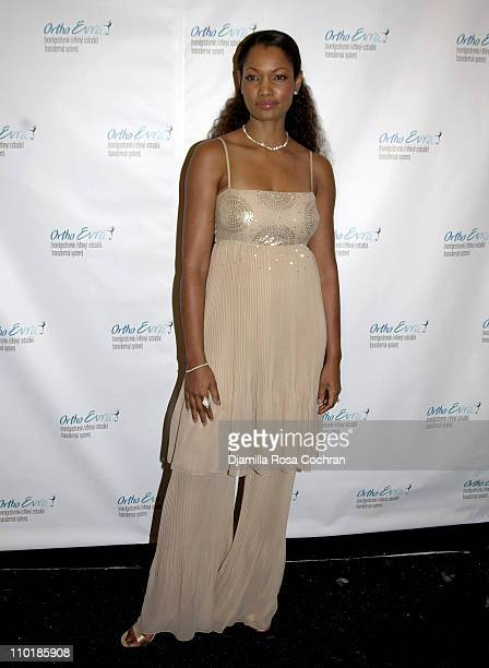 Garcelle Beauvais-Nilon during Mercedes-Benz Fashion Week Spring 2004 - Ortho Evra - Backstage at Bryant Park in New York City, New York, United...