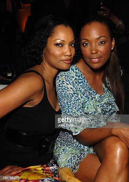 Garcelle Nilon and Aisha Tyler during Roberto Cavalli Vodka Los Angeles Release Party Inside at Private Residence in Beverly Hills California United...