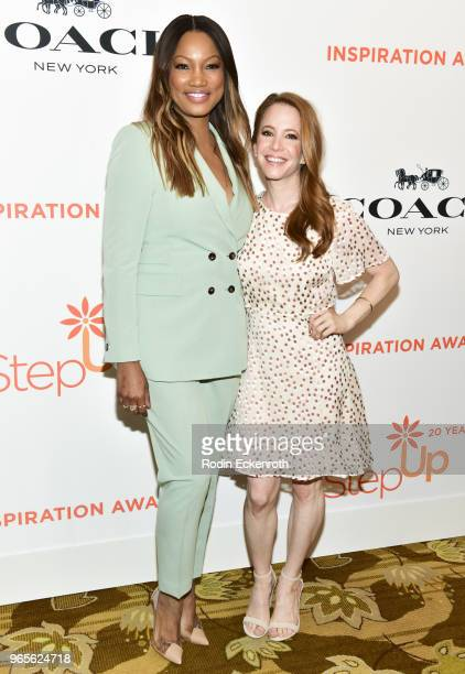 Garcellle Beauvais and Amy Davidson attend Step Up's 14th Annual Inspiration Awards at the Beverly Wilshire Four Seasons Hotel on June 1 2018 in...
