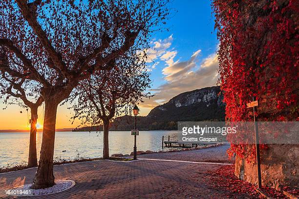 Garda at sunset, Italy