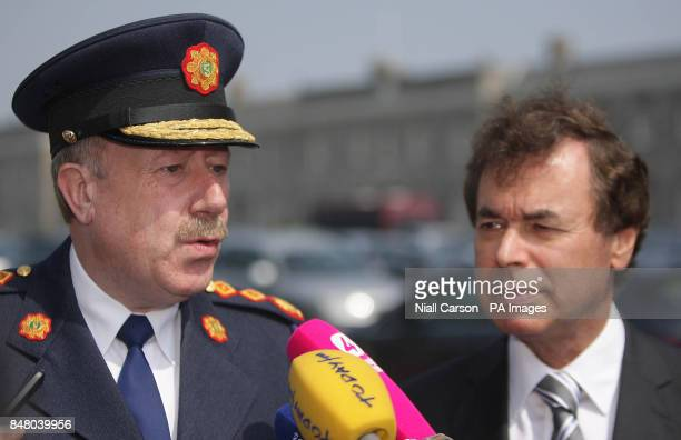 Garda Commissioner Martin Callinan and Justice Minister Alan Shatter at the launch of the The Child Rescue Ireland Alert systerm at garda...