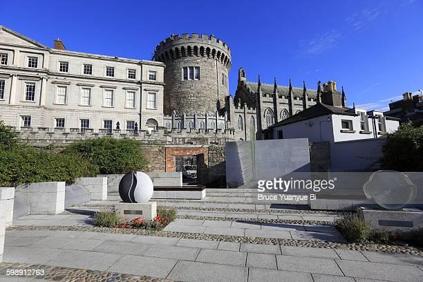 Garda Memorial Garden with Dublin Castle