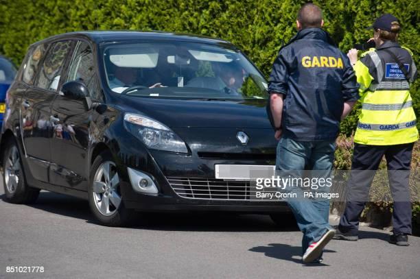 DESK Garda video people arriving at the funeral of former Republican Sinn Fein leader Ruairi O Bradaigh at the Sacred Heart Church Roscommon before...