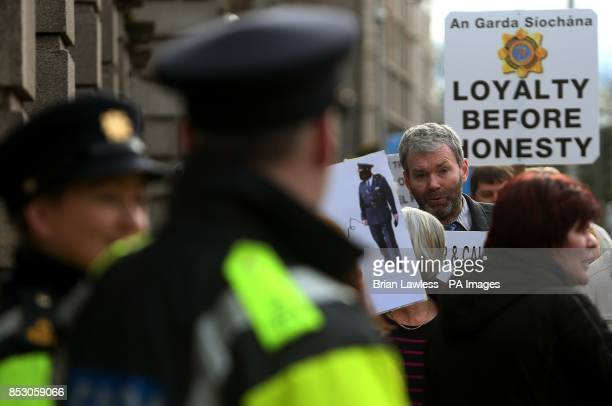 Garda whistleblower John Wilson during a Justice 4 All protest against Garda malpractice outside Leinster House Dublin
