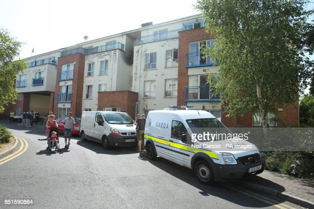 a8f3b316fa Gardai at the scene of a fire at an apartment complex in Watery Lane  Clondalkin Dublin