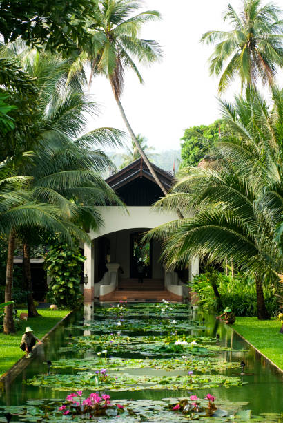 Garden and pond at Anantara Resort.