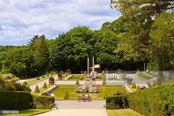 garden at blenheim palace, woodstock, oxfordshire, england, united kingdom. - blenheim palace stock pictures, royalty-free photos & images