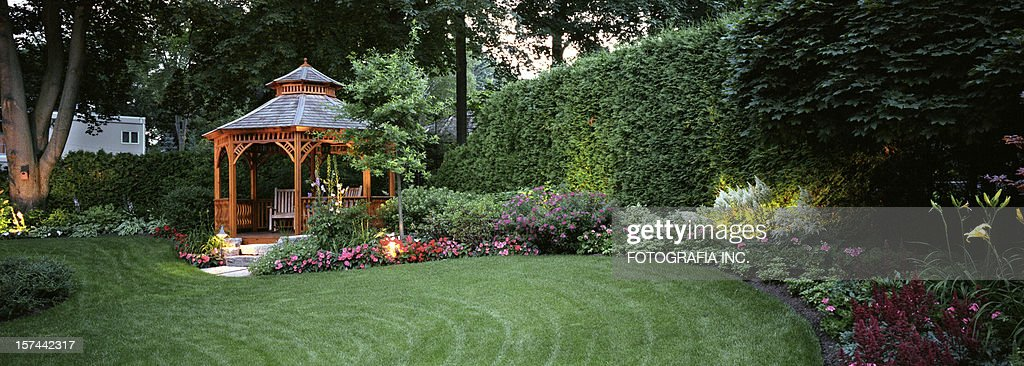 Garden at Night : Stockfoto