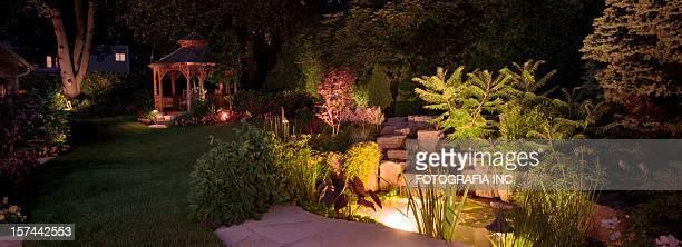 Le jardin, de nuit