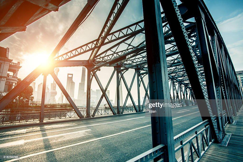 Garden Brücke von Shanghai : Stock-Foto