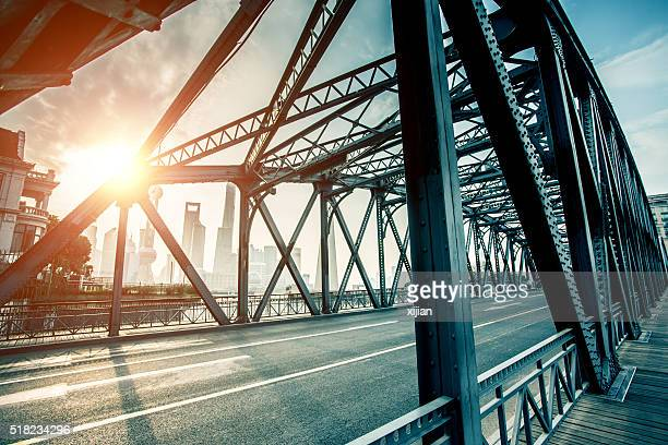 garden bridge of shanghai - built structure stock pictures, royalty-free photos & images