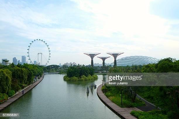 garden by the marina bay - singapore botanic gardens stock photos and pictures
