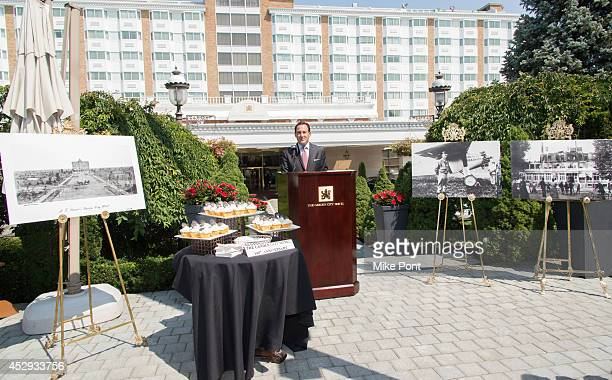 Garden City General Manager Grady Colin attends The Garden City Hotel 140th Anniversary Celebration at Garden City Hotel on July 30 2014 in Garden...