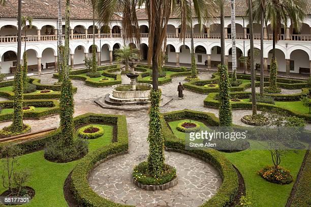 Garden cloister in Quito, Ecuador