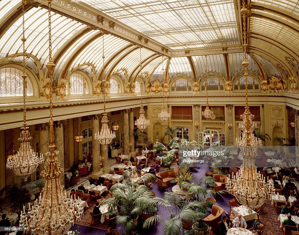 Garden Court of the Sheraton Palace Hotel, San Francisco, California ...