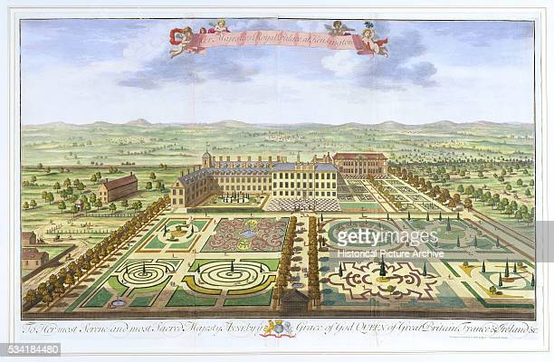 'Garden Design of Kensington Palace by Johannes Kip After Leonard Knyff '