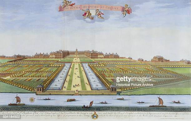 'Garden Design of the Royal Hospital at Chelsea by Johannes Kip After Leonard Knyff '
